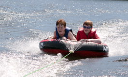 Waterskiing and Tubing